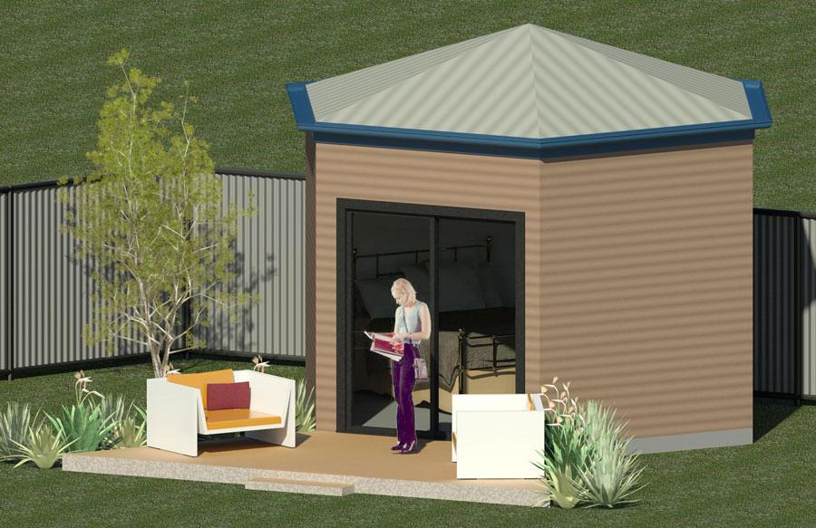 8 Meter Steel Framed Yurt Modular Steel Kit Homes